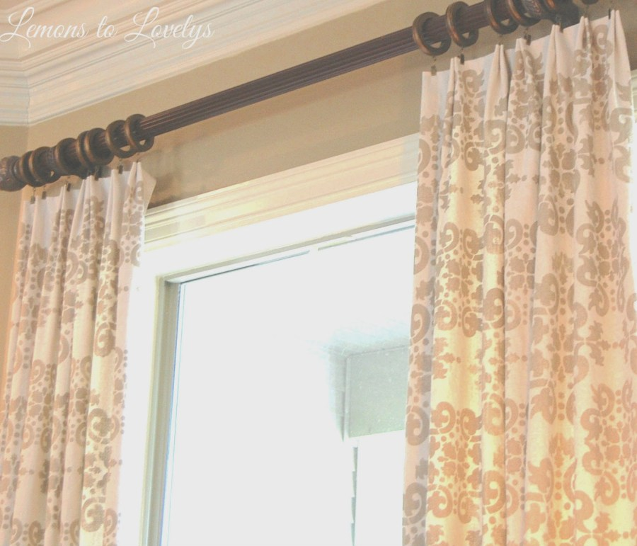 Easy No Sew Drop Cloth Curtains WITH PLEATS! – Lemons to ...