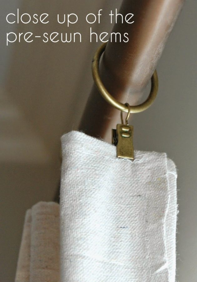 Easy No Sew Drop Cloth Curtains With Pleats Lemons To