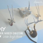 DIY Painted Deer Shed Decor