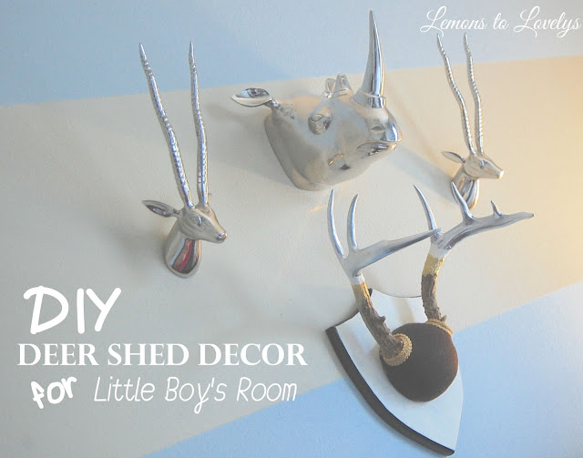 DIY Deer antler decor- www.lemonstolovelys,blogspot.com