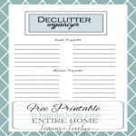 Blog Makeover , Spring Cleaning, and Our First FREE PRINTABLE