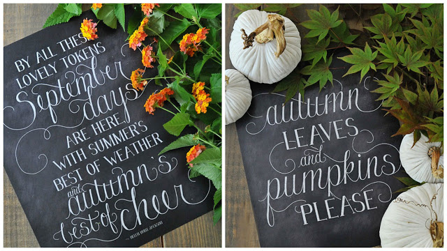 Favorite Fall Decor Picks 2016: Printable Chalkboards by Dear Lillie. Click photo to see tons more on the blog.