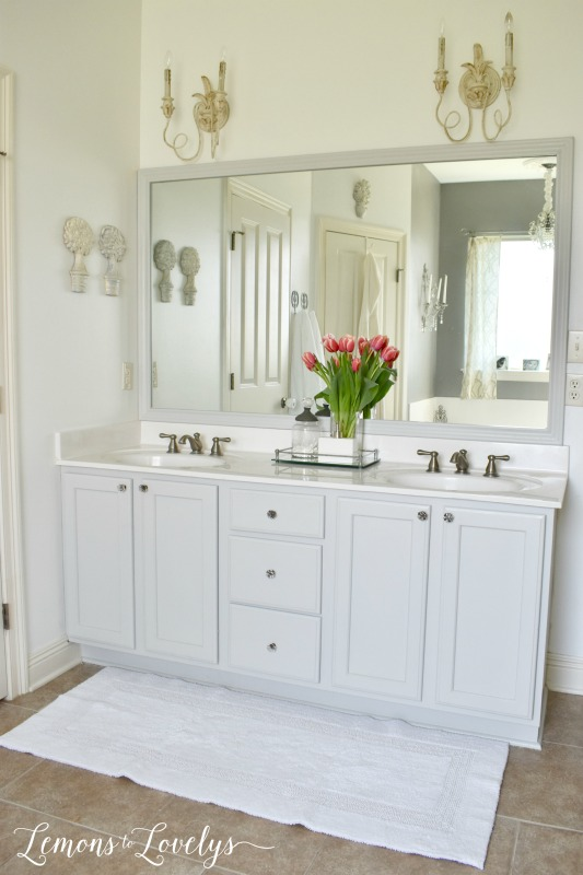 Joyful Spring Home Tour Master Bathroom Update www.lemonstolovelys.com