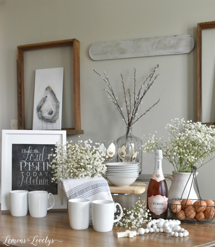Joyful Spring Home Tour Easter Brunch Table www.lemonstolovelys.com
