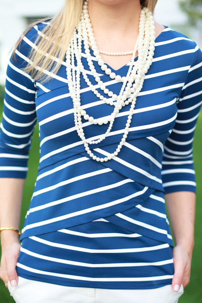 Stripes and pearls