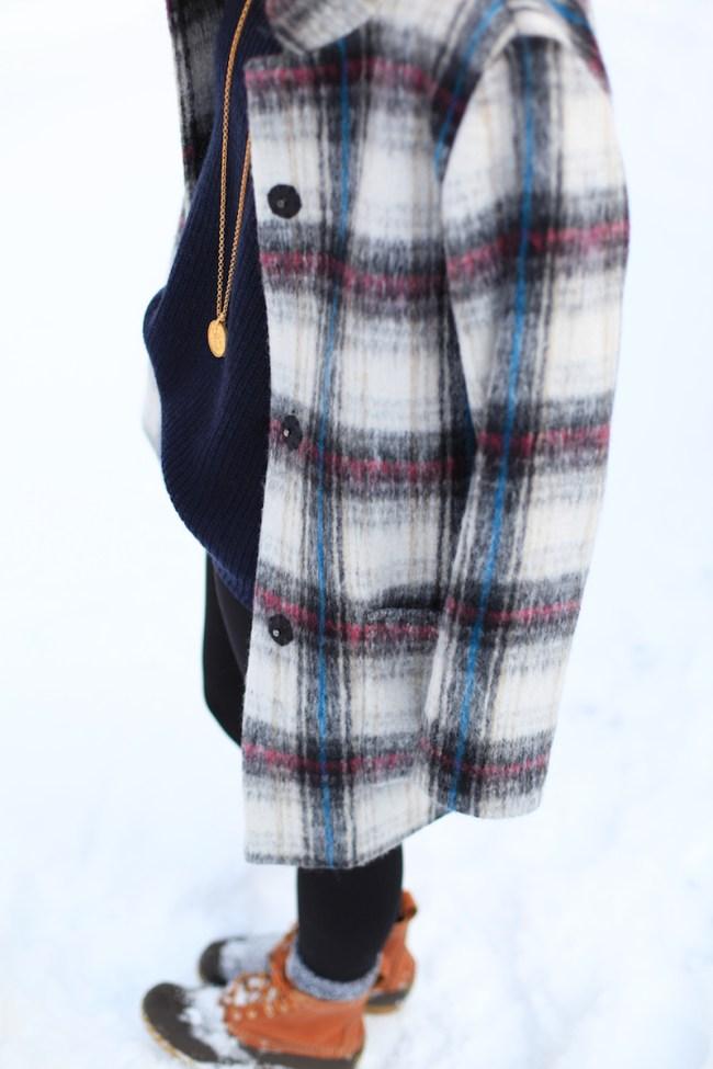 Kenneth Cole Plaid Coat
