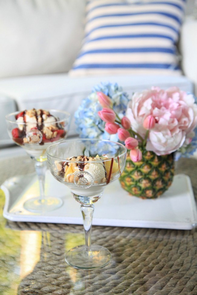 Grilled Pineapple Sundaes