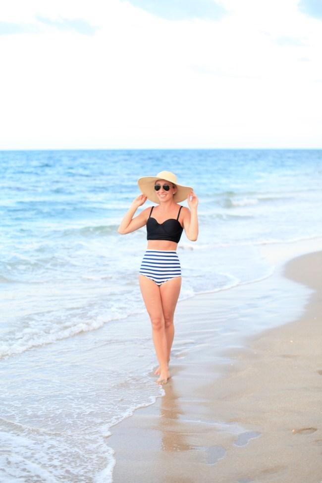Lemon Stripes bathing suit