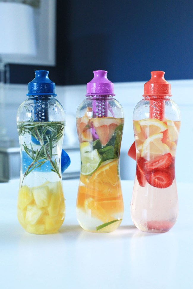 Three fruit water recipes