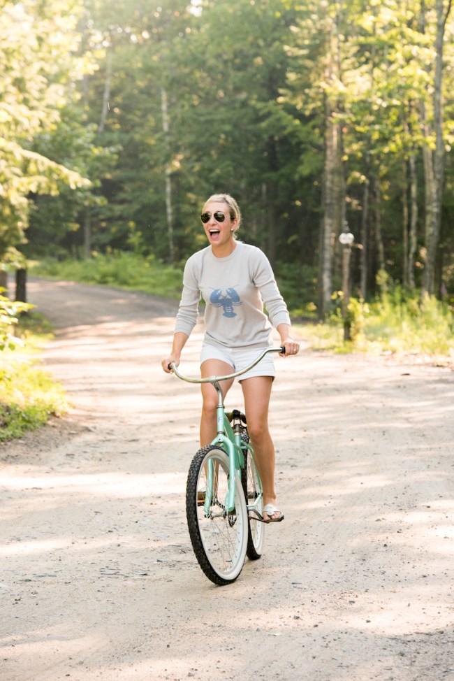 Lemon Stripes Biking in Maine