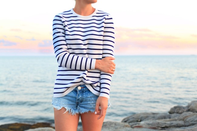 Striped Sweater at the Beach