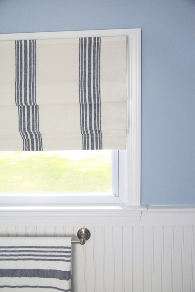 Striped Bathroom Curtain