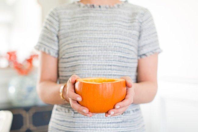 Easy DIY pumpkin bowls