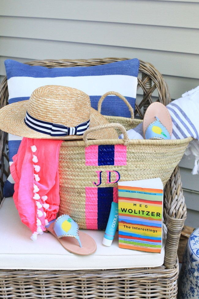 Monogramned Beach Tote