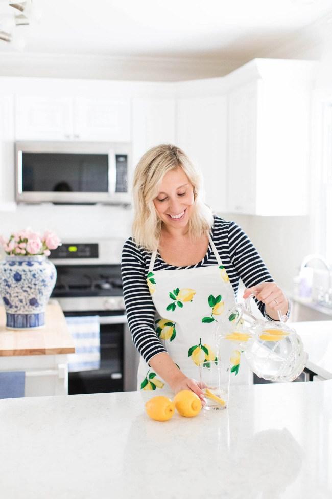 Julia Dzafic in the kitchen