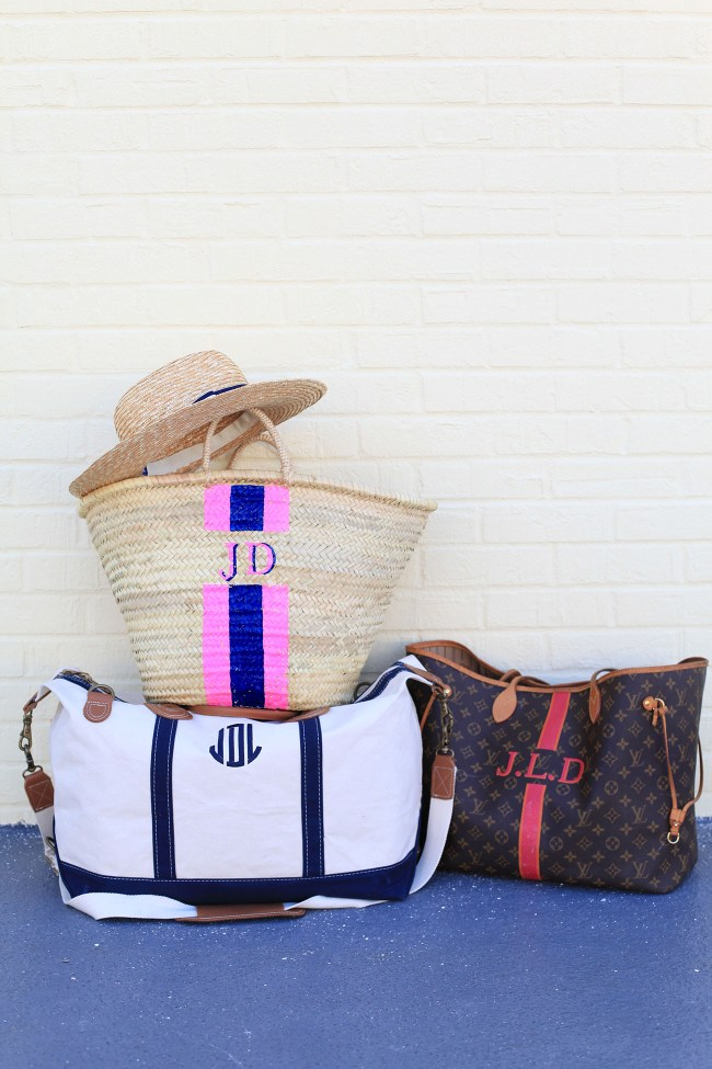 Monogrammed Travel Bags