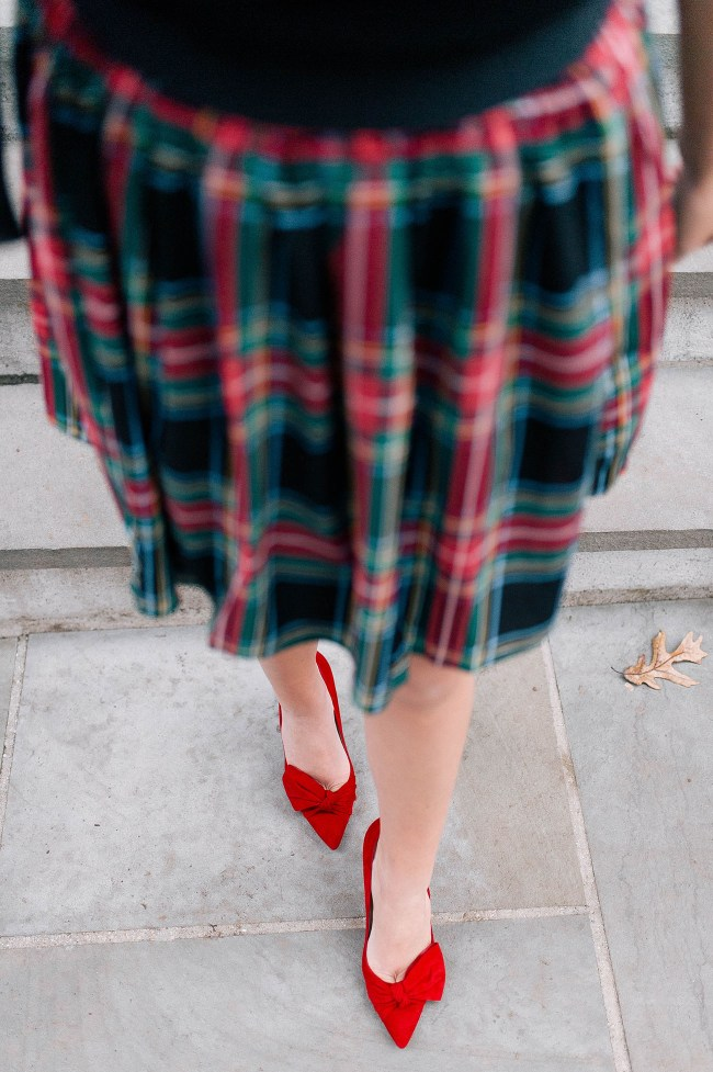Red Holiday Pumps