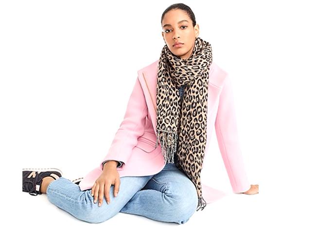 Leopard Wool Scarf