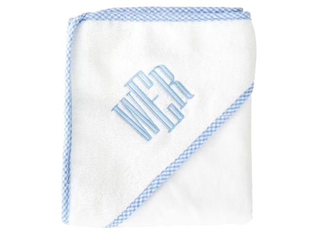 Gingham Trimmed Hooded Towel