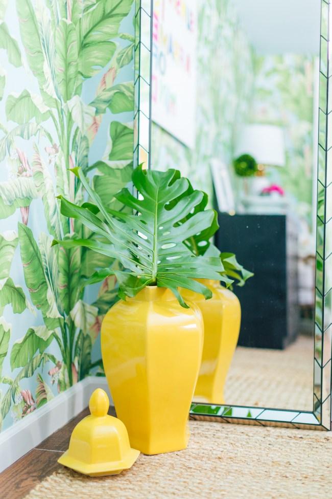 Yellow Ginger Jar