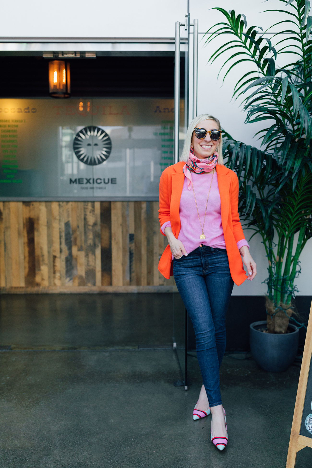 7f572571362 J.Crew Sweater Blazer (Comes in 8 colors and J.Crew Factory makes a very  similar one for less than half the price)   Similar Pink Sweater ( 68)    Jeans (50% ...