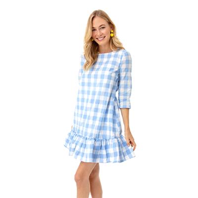 Gingham Poppy Dress