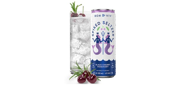 BON & VIV Spiked Seltzer Black Cherry Rosemary
