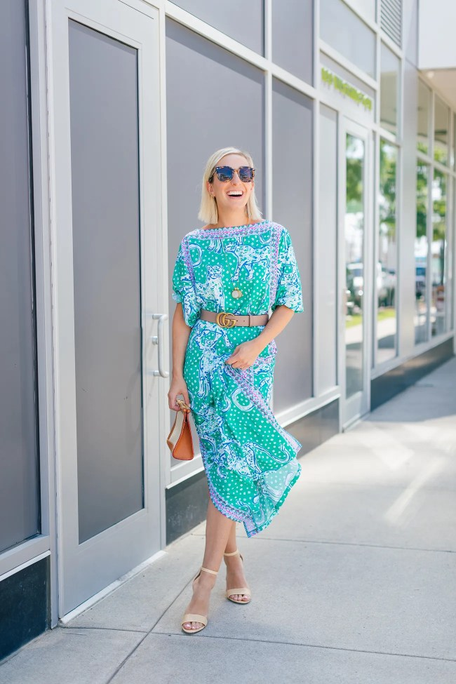 Lilly Pulitzer Tiger Dress on Julia Dzafic