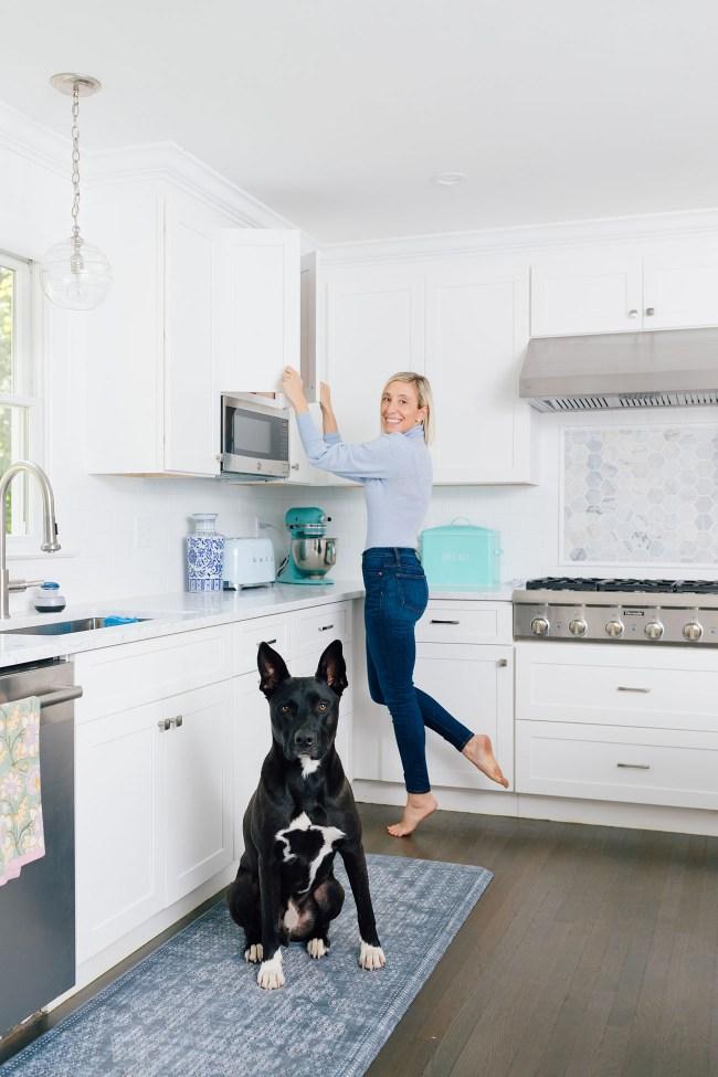 Organized Kitchen with Lemon Stripes