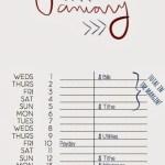 How to use a list budget calendar
