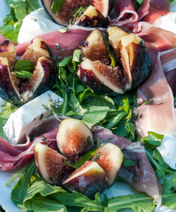 Fresh Mozzarella cheese, Figs, and Prosciutto Salad recipe