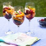 Peaches and Berries Layered with Bourbon Sabayon recipe
