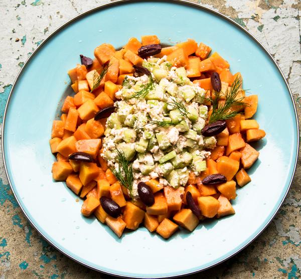 Sunshine salad with Papaya cucumber and feta recipe
