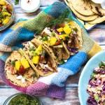 Seared Fish Tacos with Mango Avocado Salsa recipe