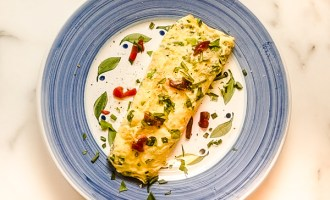 Fresh Herb Omlet with Goat Cheese Recipe.