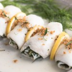 Oven Poached Sole Wrapped in Fresh Herbs, recipe.