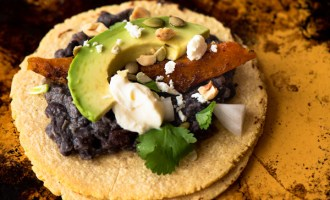 Black Bean Tacos with Spicy Winter Squash, a recipe.