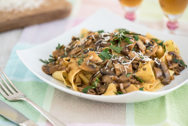 Pappardelle with Sherry Mushroom Sauce, a recipe