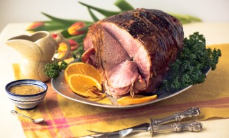 Spiral Sliced Ham with Orange Pineapple Glaze, a recipe.