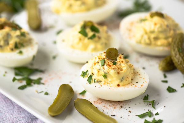 Deviled Eggs, 4 Ways, a recipe.
