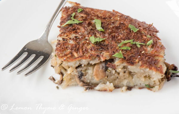 Earth Day Friendly Recipes, Rosti, Potato Pancake with mushrooms