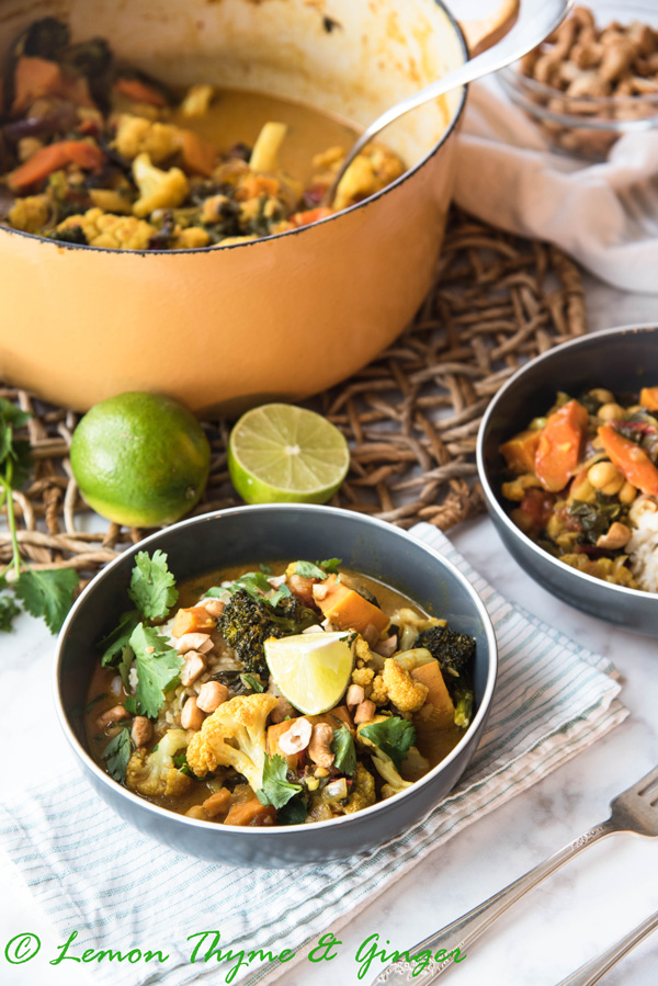 Earth Day Friendly Recipes, South Indian Style Vegetable Curry