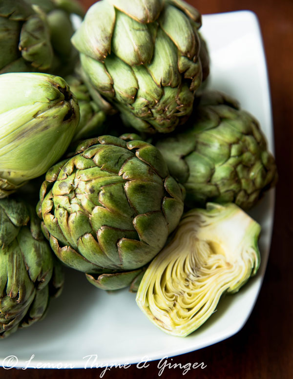 Braised Baby Artichokes with Mild Anchovies Sauce, a recipe.