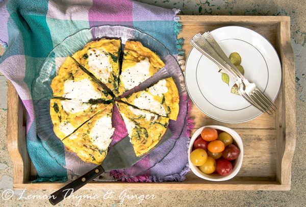 Ricotta Spinach Frittata with recipe.