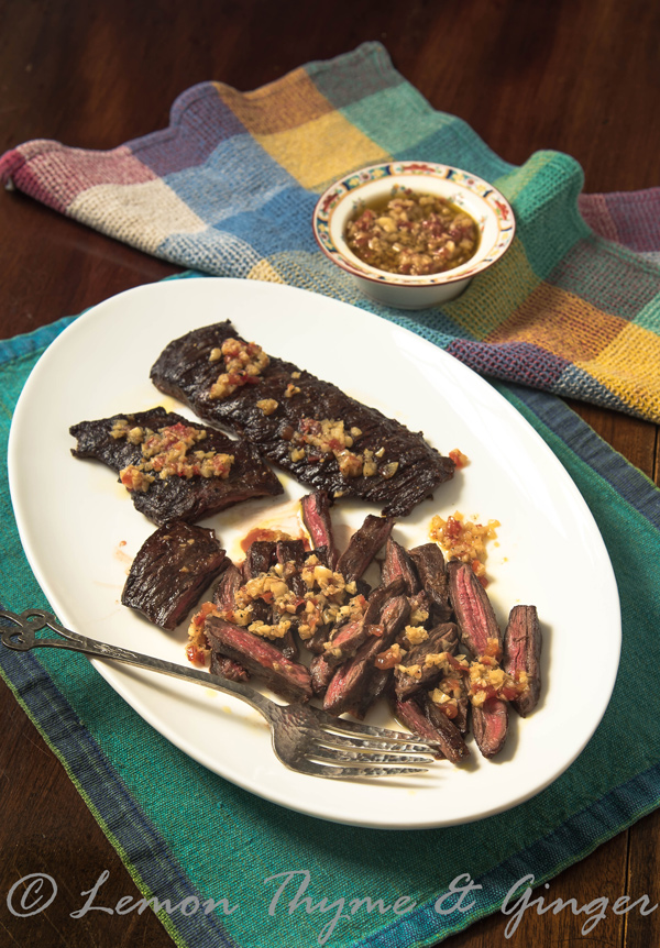 Grilled Skirt Steak with Mojo de Ajo recipe.
