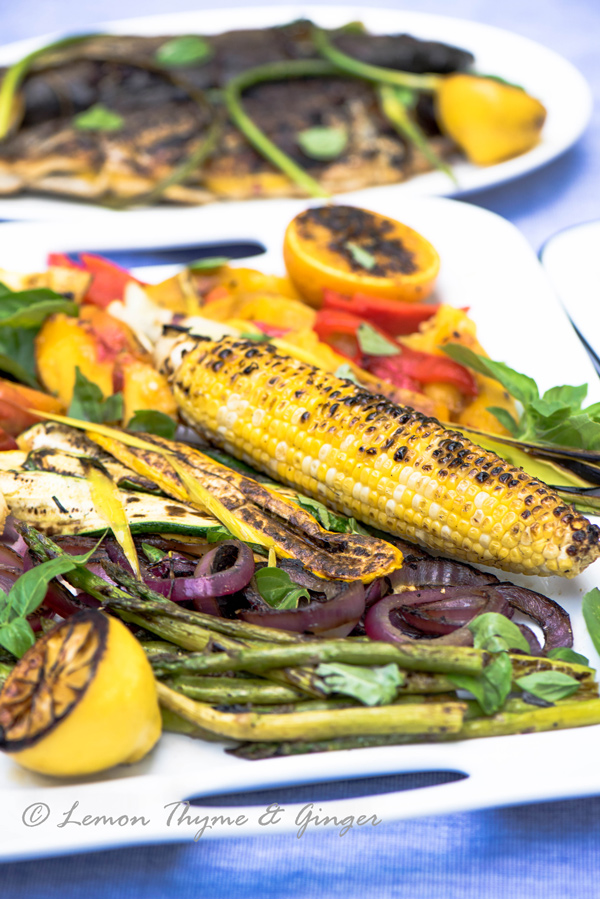 Hodgepodge of Grilled Vegetables Mediterranean Style, recipe.