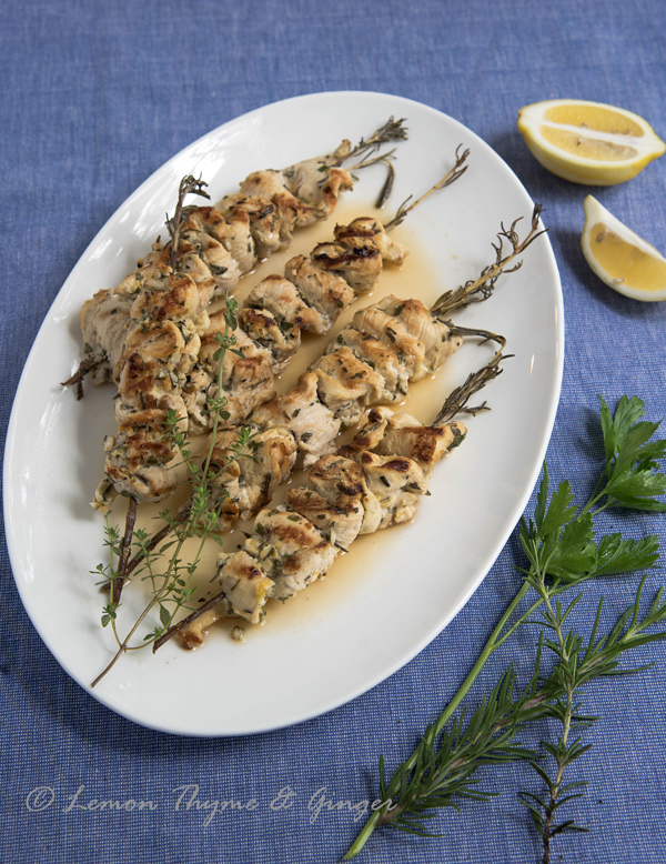 Seared Chicken Skewers with Rosemary recipe.