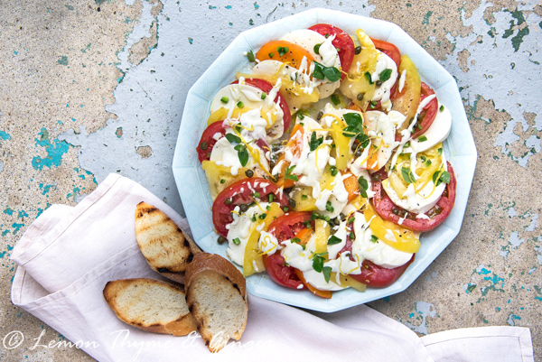 Creamy Tomato and Mozzarella Salad recipe.