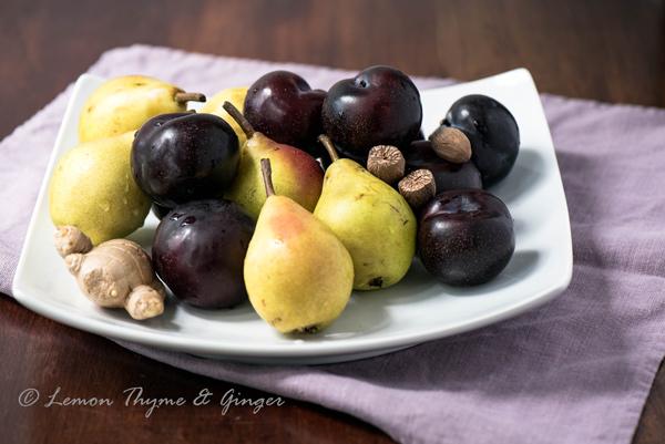 Ginger Plum and Pear Crisp recipe