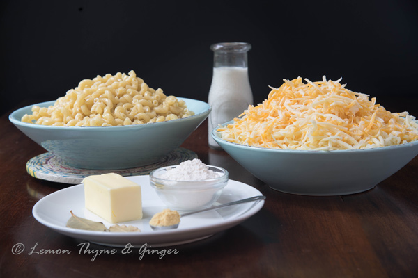 Classic Mac and Cheese recipe with add-ins.